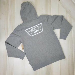 Vans Mens Hoodie Sweatshirt Med Gray Logo New